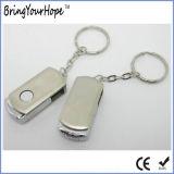 Unidad flash USB de metal giratoria en caja de metal Packaging (XH-USB-154)