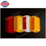 Reflector lateral duplo de segurança rodoviária de plástico Perno no Material ABS