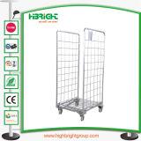 Seguridad de malla de alambre Servicio de lavandería CARRO carro con el panel central