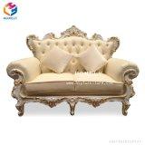 Fabrik-Preis-Wohnzimmer-Möbel-klassisches Sofa mit ledernem Sofa