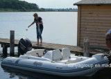Barco do reforço do PVC de Liya 4.3m/14feet com o motor externo para a venda