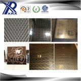 Placa de titanio hueco relieve 201 placa decorativa de acero inoxidable de color