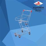 Chariot de panier à provisions de supermarché de chariot à panier de zinc