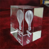 Taza cristalina clara de la concesión del trofeo de la mano para el trofeo del golf