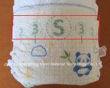 Младенец/взрослый ткань горячего воздуха сырья пеленки Bonded гидродобная Nonwoven