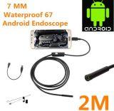 do cabo flexível externo da serpente da câmera do USB de 7mm endoscópio Android impermeável do telefone IP67 móvel