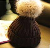 Он-лайн Handmade связанная связанная шлемом крышка Beanie с шариком