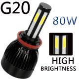 Il rendimento elevato 8000lm G20 4 ha parteggiato faro del LED