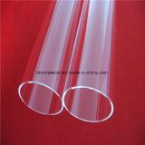 Ambos extremos del tubo de vidrio de cuarzo claro abierto