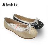 Zapatos de ballet ocasionales superiores de la danza de la PU de las muchachas de la alta calidad