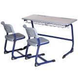 Деревянный двойной регулируемый стол мебели школы