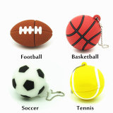 Cartoon pelotas de fútbol de la unidad flash USB Memory Stick Basketball Pendrive