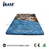 Hete Verkopende LCD van 4.3 Duim Video brochure-Papier Kaart voor Presentatie/Reclame