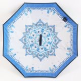 [هندفر] [دووبل لر] عكس عكس مظلة مع [ك] شكل مقبض مظلة ترويجيّ