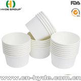 Libro blanco de 8oz desechables tazón de sopa caliente