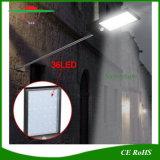 450lumens Feux d'énergie solaire du capteur de mouvement IRP Outdoor wall lamp