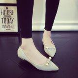 4 украшения перлы ботинок пятки женщин цветов ботинка Ccolor сладостных плоских одиночных чисто плоскодонных вскользь