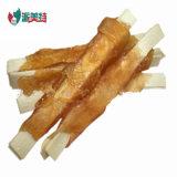 Mastigações dentais do cão dos ossos do envoltório seco natural do pato do alimento de animal de estimação