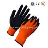 Schützende Nylonspandex-Sandy-Nitril-Sicherheits-Arbeits-Handschuhe