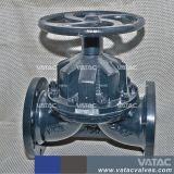 Rechtstreeks door Klep van het Diafragma van het Handwiel van FF van het Gietijzer de Van een flens voorzien Gg25