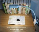 再充電可能なLEDクリップベッドの読書ランプ