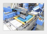 Machine van de Druk van het Scherm van het Etiket van het satijn de Automatische met Hoge snelheid