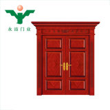 Zhejiang Yujie Fabrication Vente chaude de l'intérieur des doubles portes en bois massif