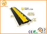 Hete Gele Dekking 2 van de Verkoop Beschermer van de Kabel van de Vloer van het Kanaal de Rubber