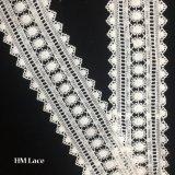 lacet grisâtre Hmhb1178 de garniture de métier de la garniture DIY de lacet de tournesol de crochet de polyester de 6.5cm