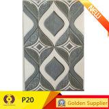 Baldosa cerámica esmaltada decoración azul de la pared de la cocina del material de construcción (P20)