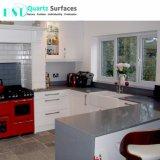 Prefab Cinzento sideral cozinha bancadas de pedra de quartzo