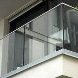 Frameless Glasgeländer mit Aluminiumu-profilstäbe für Balkon