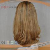 Ninguna peluca del pelo humano de la franja (PPG-l-01640)