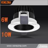 Encastré fixe de lumière vers le bas Professional Lighting Fixture 6W/10W COB LED