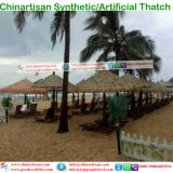 Зонтики пляжа бунгала воды коттеджа хаты штанги Tiki Thatch тропического типа острова искусственние синтетические