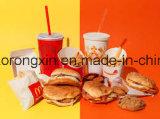 Papel impermeable a la grasa y papel de empaquetado de la hamburguesa