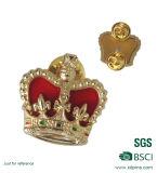 Fabbricazione del re Crown Lapel Pin del metallo dell'oro per il ricordo