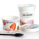 Logotipo personalizado impreso taza de papel para el helado