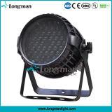 Iluminación de escenarios 54X3W RGBW 4en1 resistente al agua LED PAR puede