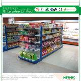 Doppia unità laterale della scaffalatura della gondola della mensola del supermercato