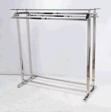 Présentoir de vêtement d'acier inoxydable avec les barres s'arrêtantes démontables