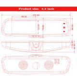 中間完全サイズ車のための自動LCDの明るさの調節を用いるタッチ画面4.3inch車のカメラのバックミラーのモニタ