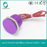 Ws167f1nom IP68 16mm purpurroter anodisierter flacher Bediener Flyingleads 200mA 24VAC/DC normalerweise geöffneter momentaner piezo Schalter