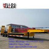 中国60トンの三車軸半頑丈なLowboyのトレーラーの低いベッドのトレーラー