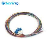 Paquete de fibra óptica LC Cable Óptico en forma de espiral espiral de cinta