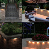 Luzes impermeáveis da parede de retenção, iluminação de Hardscape, luzes da etapa, luzes do Decking