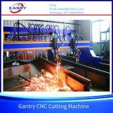 Plasma di CNC del cavalletto del acciaio al carbonio e tagliatrice ad ossigeno e gas