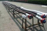 Tubo flessibile di gomma di perforazione rotativa di ricerca di idrocarburi con l'estremità del sindacato del martello
