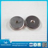 Magnete poco profondo del POT del forte del magnete della terra rara magnete rotondo magnetico del neodimio