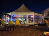 Barraca dodecagonal Octagonal sextavada luxuosa para o banquete de casamento ao ar livre